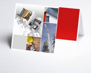 Grusskarte 150215-200 Logo-Branchenkarte Hausbau