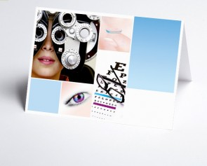 Logo-Grusskarte 150300-200 Branche Augenarzt
