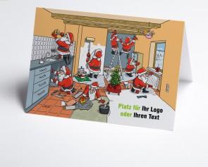 Logo-Weihnachtskarte 150377-112 Branche Hausbau verschiedene Gewerke