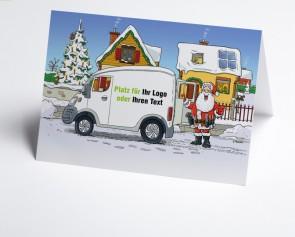Logo-Weihnachtskarte 150416-112 Branche Hausbau verschiedene Gewerke