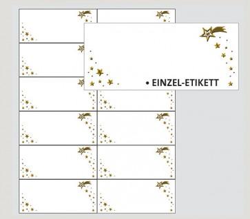 133102 Transparente Adressetiketten Sternschnuppe