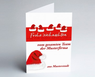 Grüße aus... Weihnachtskarte 150101-113 Nikolausmützen