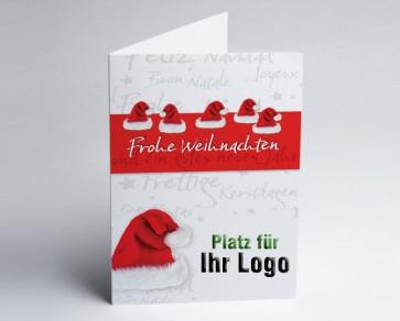 Logo-Weihnachtskarte 150101-112 Nikolausmützen