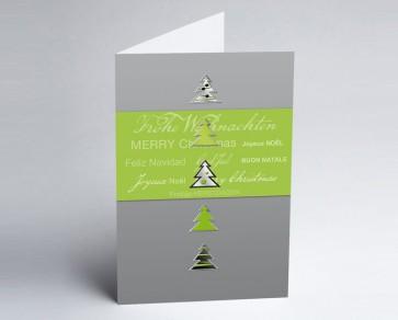 Weihnachtskarte 150128-102 Grüne Bäume International
