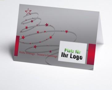 Logo-Weihnachtskarte 150151-100 Schwungbaum rot