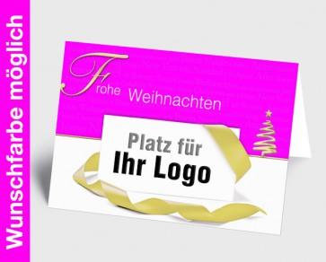 Logo-Weihnachtskarte 150166-111 in Ihrer Wunschfarbe