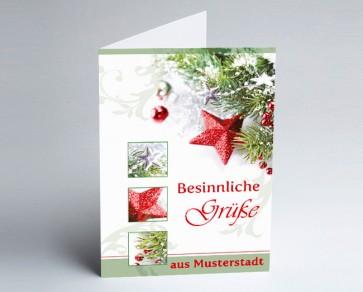 Grüße aus... Weihnachtskarte 150191-113 Weihnachtszauber grün und rot