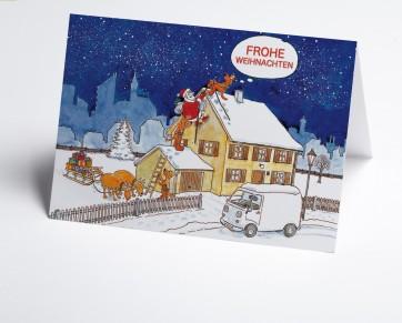 Weihnachtskarte 150203-112 Branche Bau  Weihnachtsmann