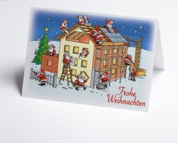 Weihnachtskarte 150204-112 Branche Hausbau verschiedene Gewerke