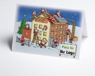 Weihnachtskarte 150205-112 Logo-Branchenkarte Hausbau verschiedene Gewerke