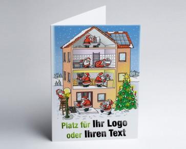 Weihnachtskarte 150207-112 Logo-Branchenkarte Hausbau