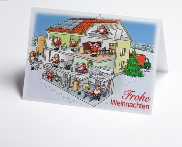 Weihnachtskarte 150208-112 Branche Hausbau verschiedene Gewerke