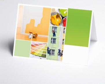 Grusskarte 150210-200 Logo-Branchenkarte Maler