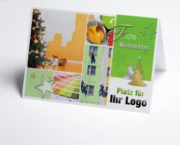 Weihnachtskarte 150210-190 Logo-Branchenkarte Maler