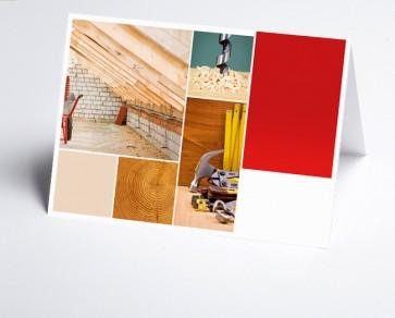 Grusskarte 150211-200 Logo-Branchenkarte Holzbau
