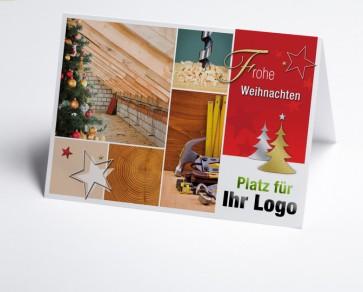 Weihnachtskarte 150211-190 Logo-Branchenkarte Holzbau