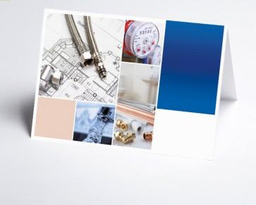 Grusskarte 150212-200 Logo-Branchenkarte Installateur