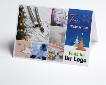 Weihnachtskarte 150212-190 Logo-Branchenkarte Installateur