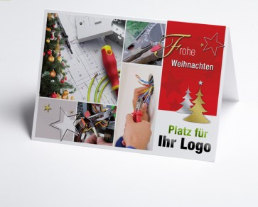 Weihnachtskarte 150213-190  Logo-Branchenkarte Elektriker