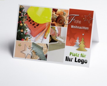 Weihnachtskarte 150214-190 Logo-Branchenkarte Maurer/Fliesenleger