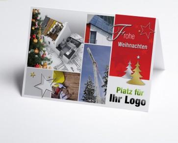 Weihnachtskarte 150215-190 Logo-Branchenkarte Hausbau