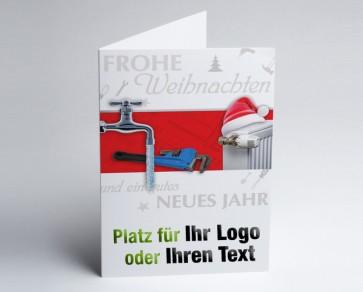 Weihnachtskarte 150218-112 Logo-Branchenkarte Installateur