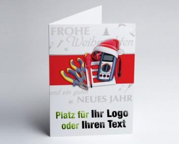 Weihnachtskarte 150219-112 Logo-Branchenkarte Elektriker