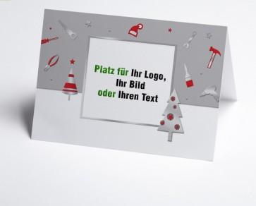 Weihnachtskarte 150226-104 Logo-Branchenkarte Bau und Handwerk grau