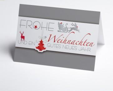 Weihnachtskarte 150243-104 Grauer Weihnachtsgruß