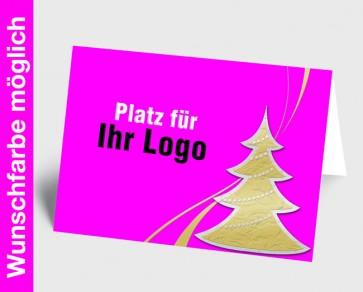 Logo-Weihnachtskarte 150246-111 in Ihrer Wunschfarbe