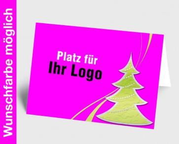 Logo-Weihnachtskarte 150247-111 in Ihrer Wunschfarbe
