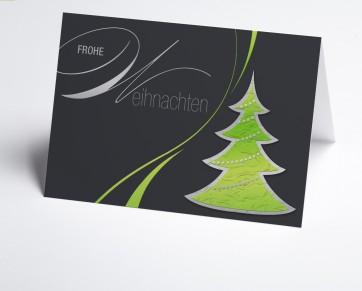 Weihnachtskarte 150247-102 Grafischer grüner Baum