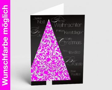 Weihnachtskarte 150251-111 in Ihrer Wunschfarbe