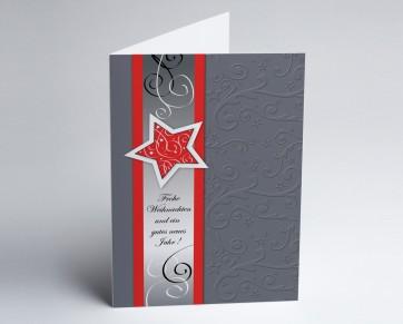 Weihnachtskarte 150254-100 Roter Sternenglanz