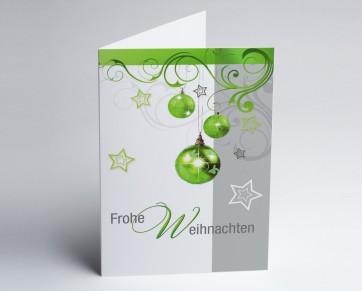 Weihnachtskarte 150257-112 Grüner Weihnachtsglanz