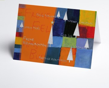 Weihnachtskarte  150266-103 Kunstkarte orange international