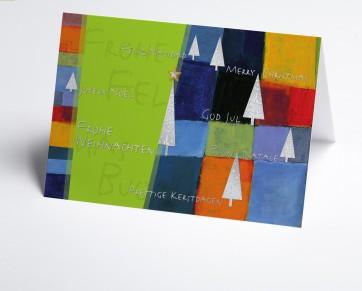 Weihnachtskarte  150267-102 Kunst grün international