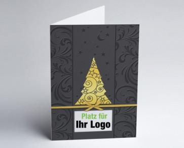 Logo-Weihnachtskarte 150274-105 goldener Baum