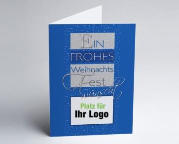 Logo-Weihnachtskarte 150280-101 Weihnachtsgruß blau