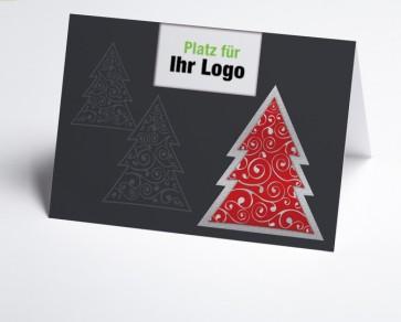 Logo-Weihnachtskarte 150291-100 moderner roter Baum