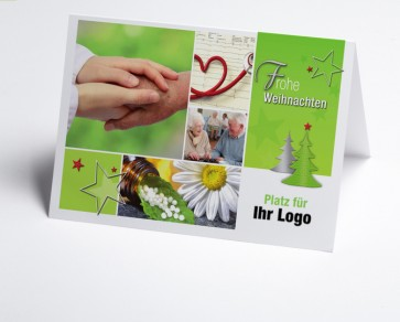 Logo-Weihnachtskarte 150296-190 Branche Pflege