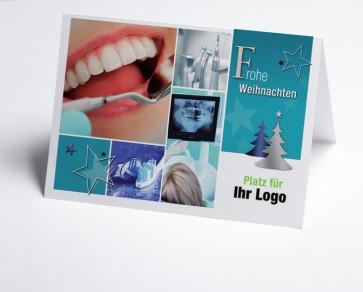 Logo-Weihnachtskarte 150299-190 Branche Zahnarzt