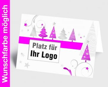 Logo-Weihnachtskarte 150321-111 in Ihrer Wunschfarbe