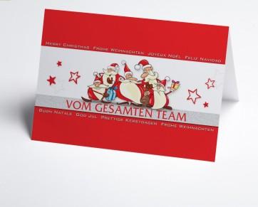 Weihnachtskarte 150330-100  Rote Teamkarte