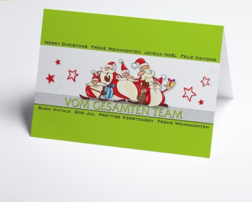 Weihnachtskarte 150332-102 Grüne Teamkarte