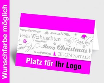Logo-Weihnachtskarte 150334-111 in Ihrer Wunschfarbe