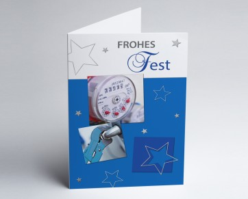 Weihnachtskarte 150366-112 Branche Installateur