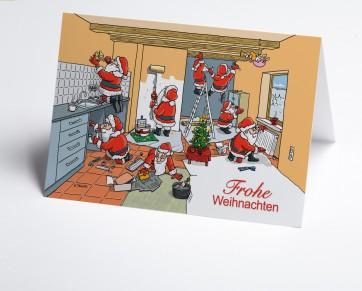 Weihnachtskarte 150376-112 Branche Hausbau verschiedene Gewerke