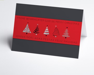 Weihnachtskarte 150380-100 rote Banderole