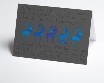 Weihnachtskarte 150383-101 Hirsche